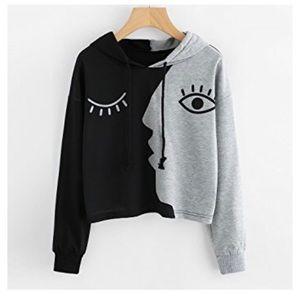 Tops - Winking Hooded Sweatshirt